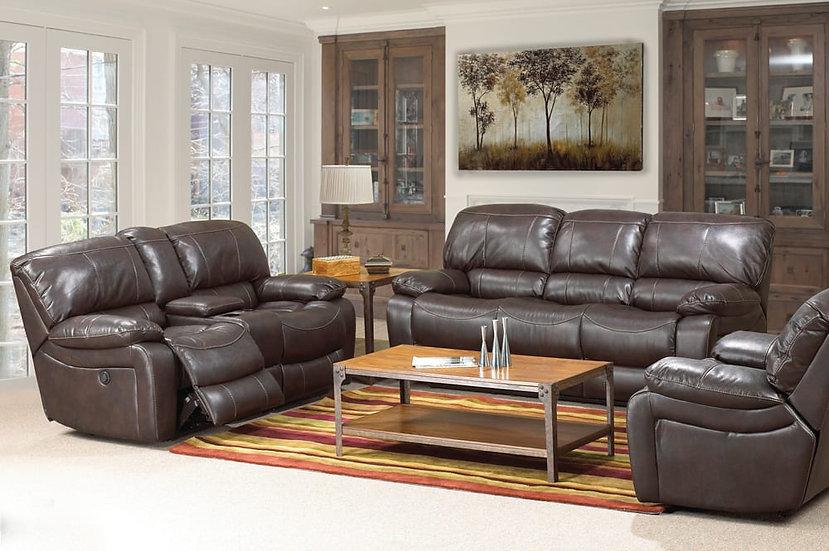 3 Piece Power Recliner Sofa Set ~ Chocolate