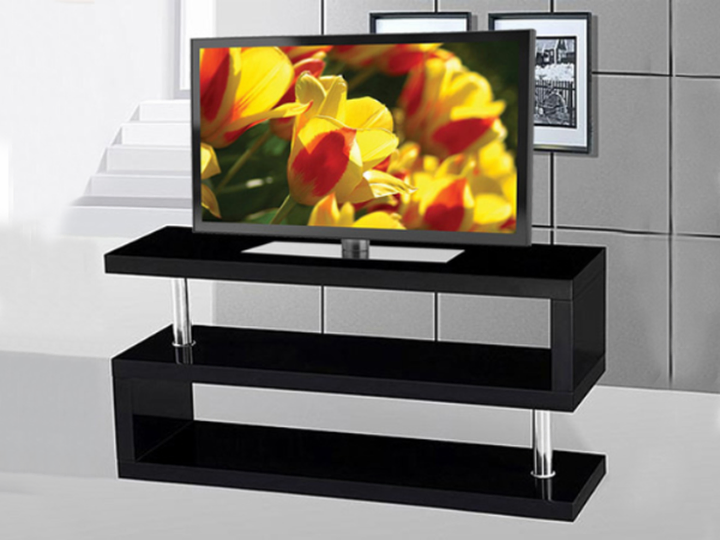 Wooden TV Stand ~ Black or White