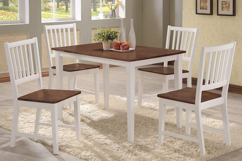 Wooden Dining Table Set ~ Two-tone