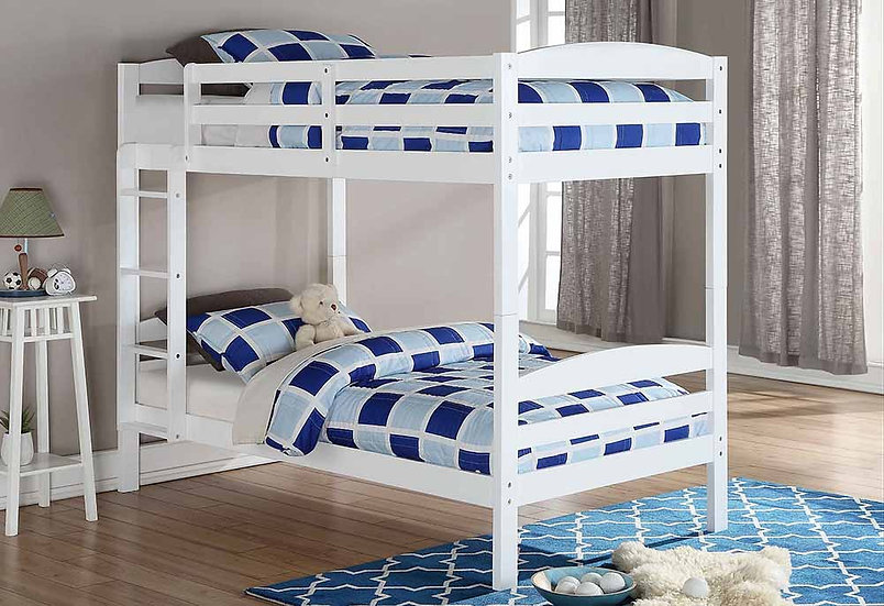 Single over Single Bunk Bed | White