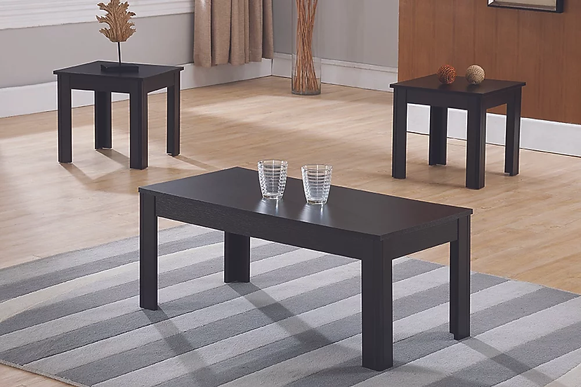 3 Piece Wooden Coffee Table Set ~ Espresso