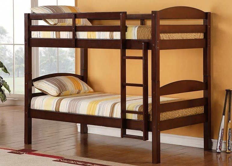 Twin over Twin Bunk Bed Frame  | Espresso