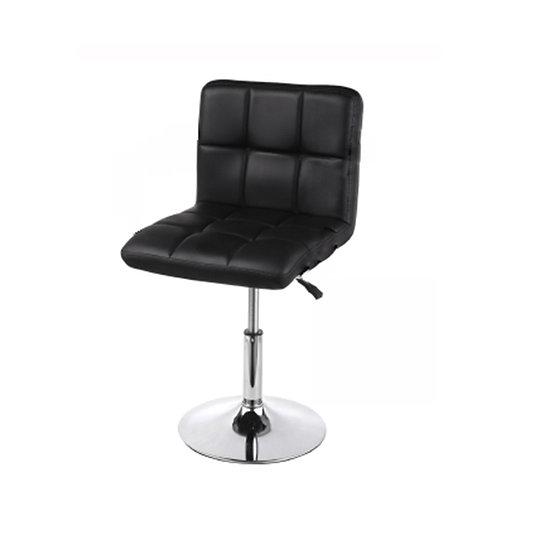 Leatherette Bar Stool - Black