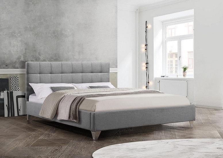 Fabric Platform Bed ~ Grey
