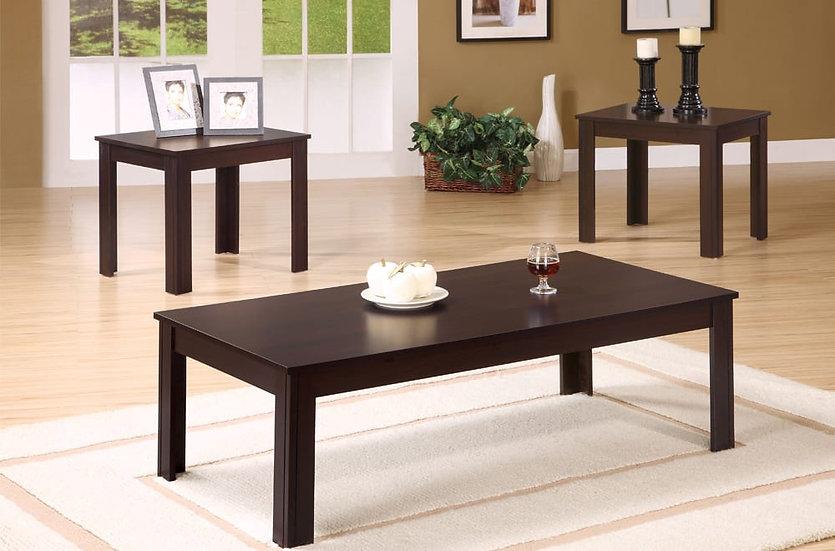 3 Piece Wooden Coffee Table Set ~ Espresso