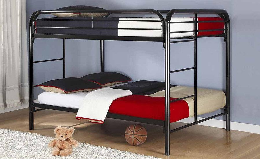 Metal Full over full Bunk Bed | Black