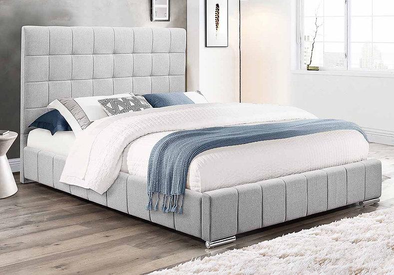 Fabric Upholstered Platform Bed ~ Grey