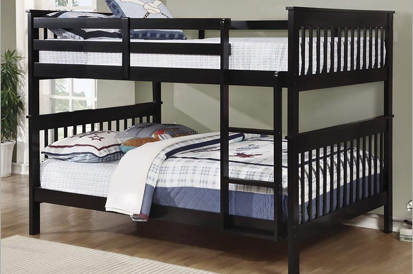 Full over Full Bunk Beds that Separate | Espresso