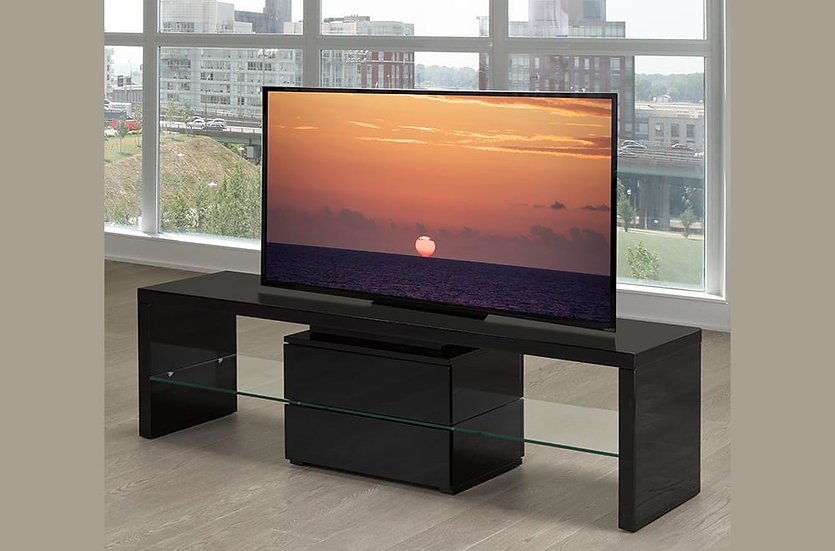 Wooden TV Stand ~ High-Lacquered Black