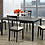Thumbnail: 5 Piece Wood Upholstered Dining Set ~ Espresso
