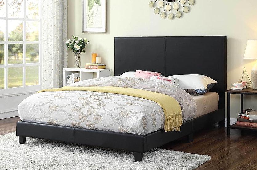 Bonded Leather Bed ~ Black
