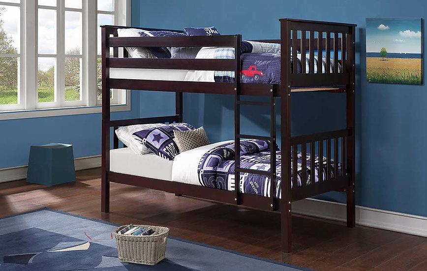 Wooden Twin Loft Bed | Espresso