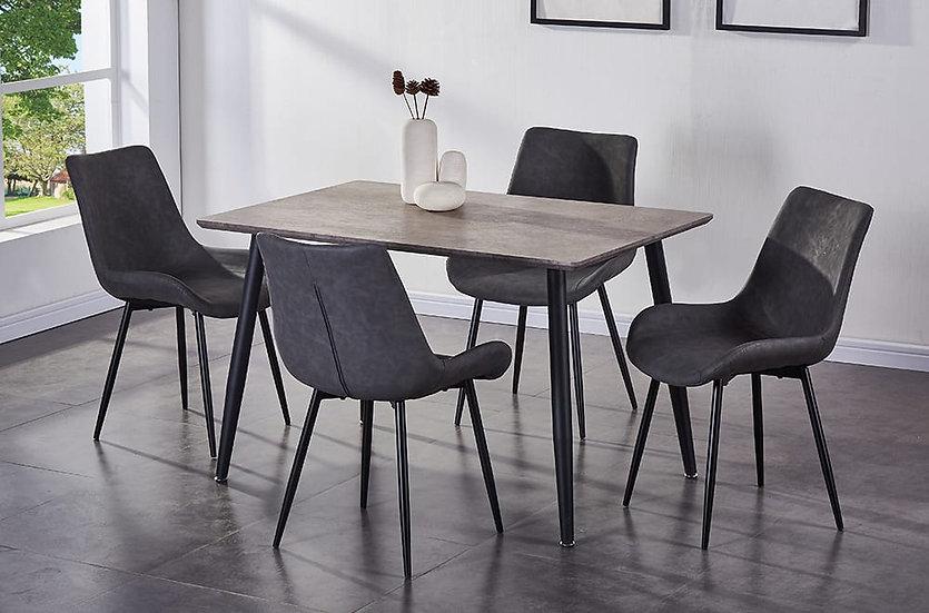 5 Piece Dining Set - Grey