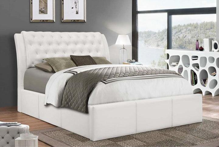 PU Platform Bed ~ White