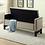 Thumbnail: Velvet Fabric Storage Bench ~ Beige