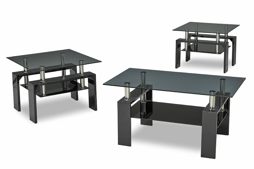 3 Piece Coffee Table Set or Coffee Table ~ Glossy Black