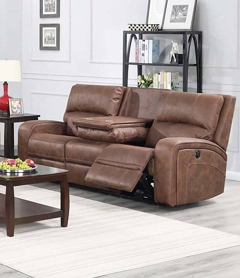 Power Recliner Sofa ~ Cognac