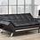 Thumbnail: Leatherette Sofa Bed  ~ Black