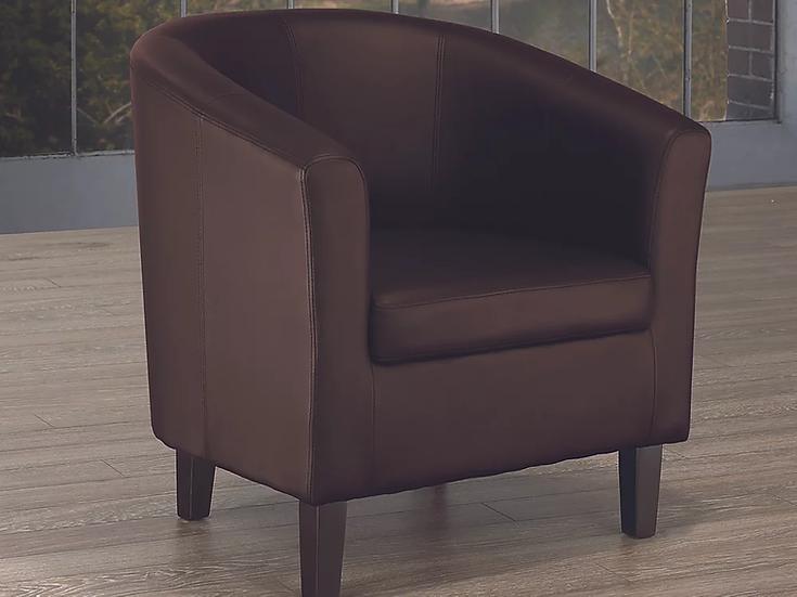 PU Leather Tub Chair ~ Espresso