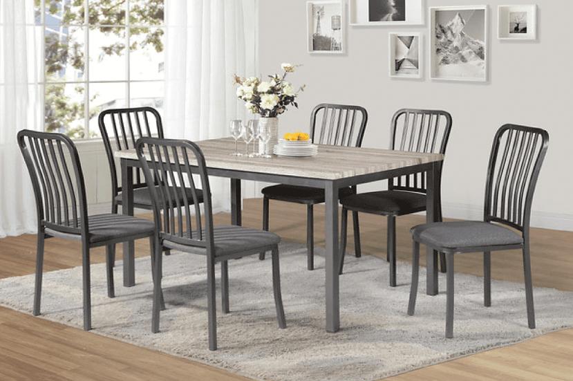 7 Piece Dining Set ~ Grey