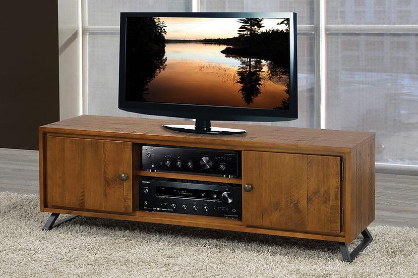 Wood & Metal TV Stand ~ Walnut Finish