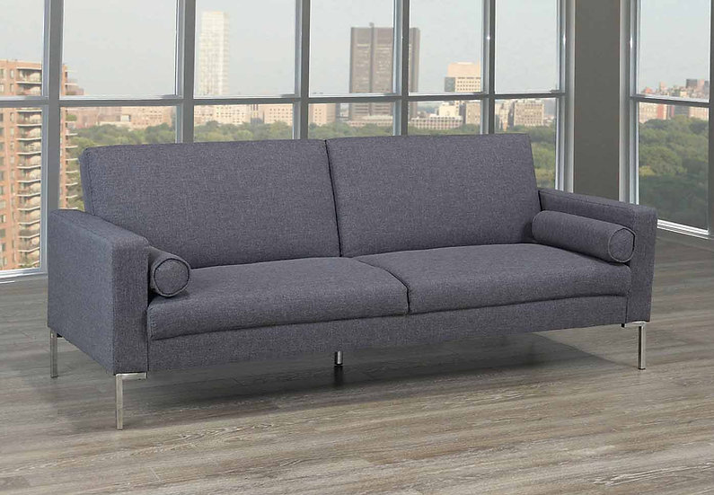 Linen-Style Sofa Bed  ~Grey