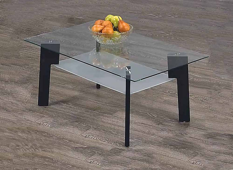 Coffee Table Wooden & Glass