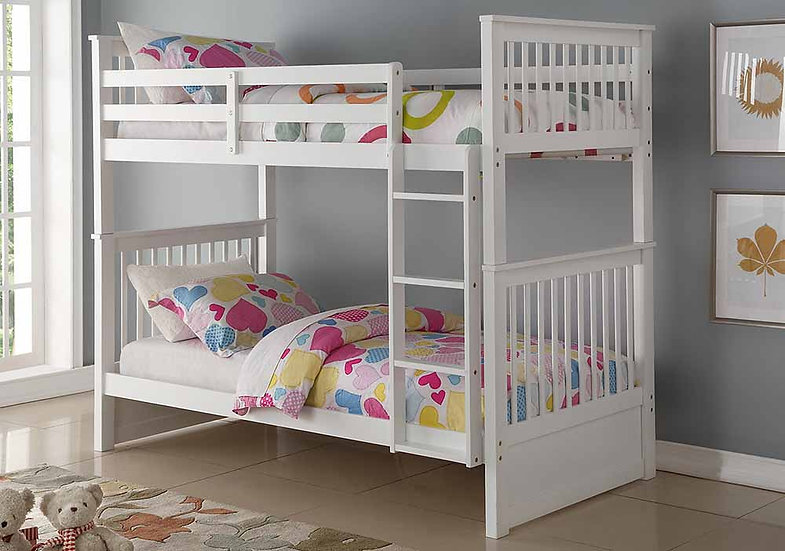 Twin over Twin Loft Bed | White