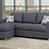 Thumbnail: Reversible Linen Sectional Sofa ~ Grey