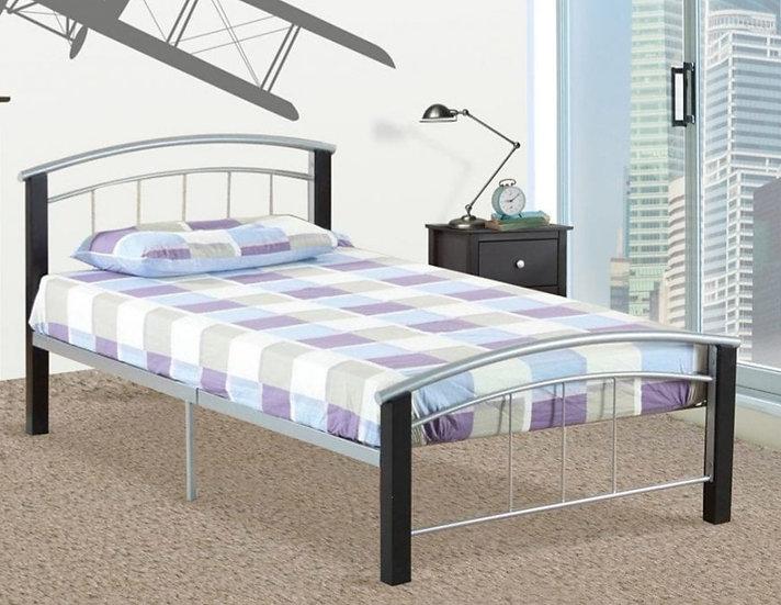 Metal & Wooden Platform Bed ~ Espresso