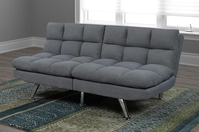 Split Linen-Style Fabric Sofa Bed  ~ Grey