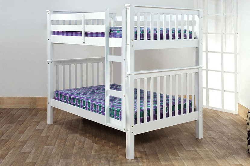 Full over Full Bunk Beds that Separate | White