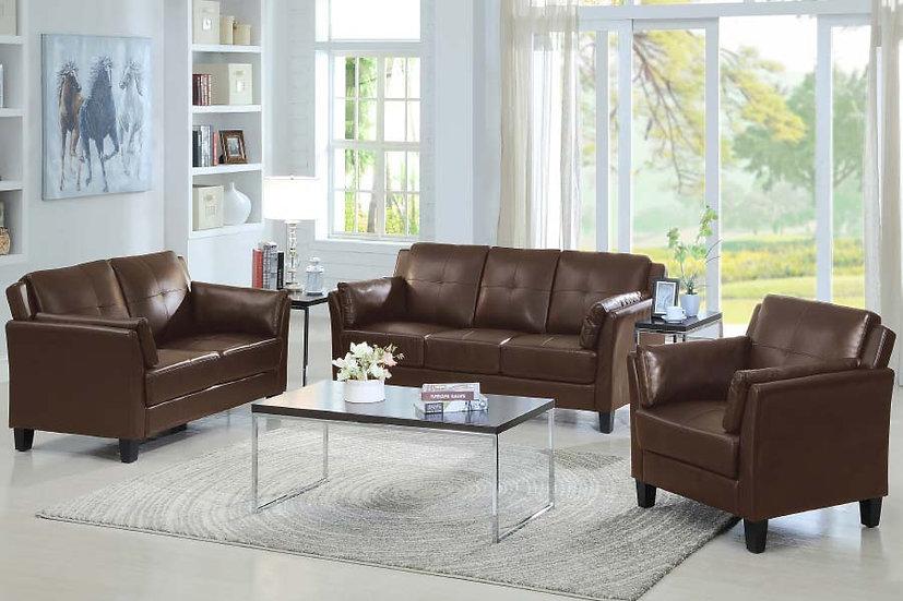 3 Piece Sofa Set ~ Brown