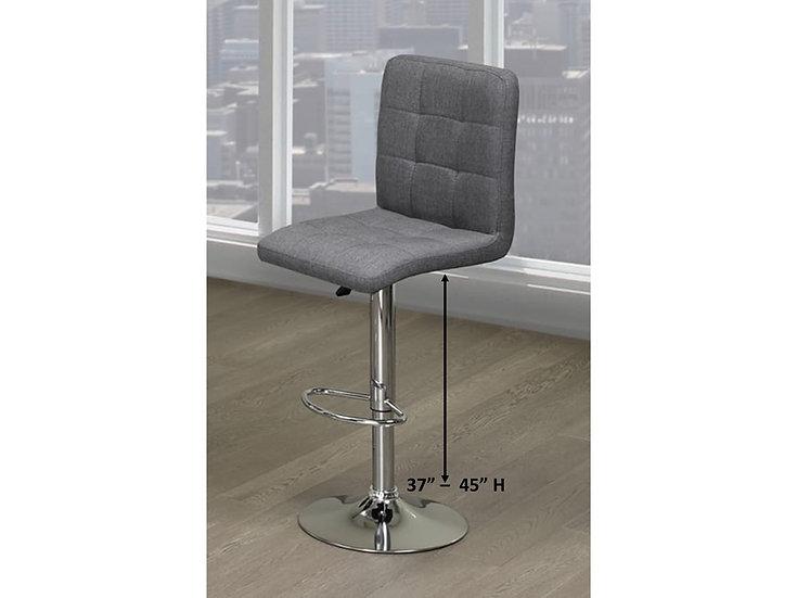 Fabric Bar Stool - Grey