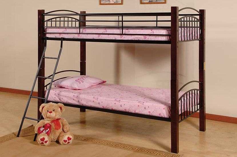 Twin over Twin Bunk Bed that separate | Black