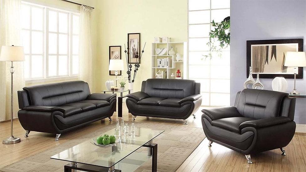3 Piece Sofa Set ~ Black