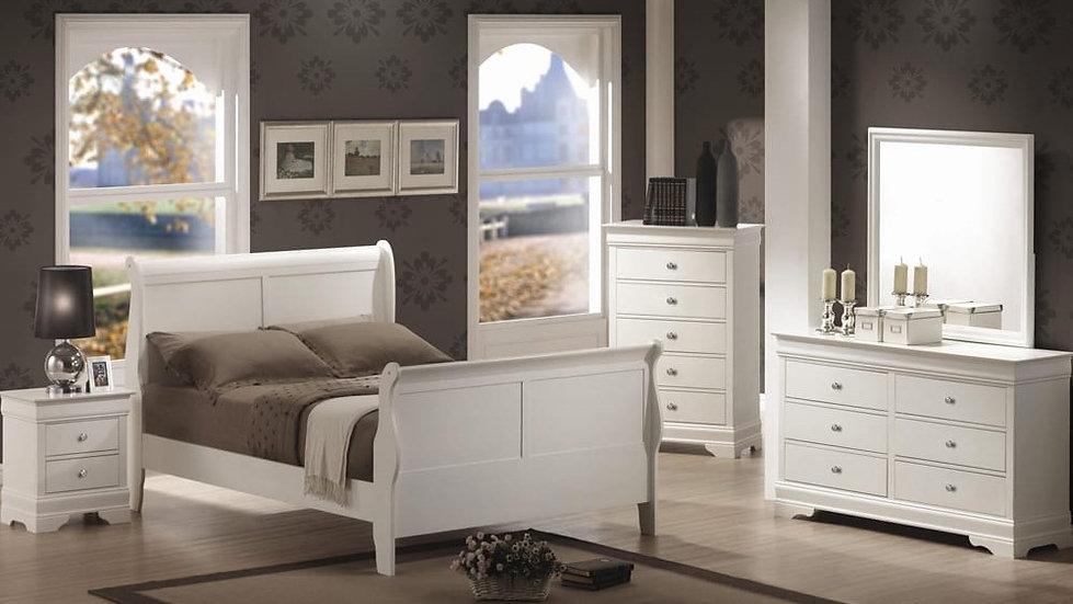 Sleigh Bedroom Set White