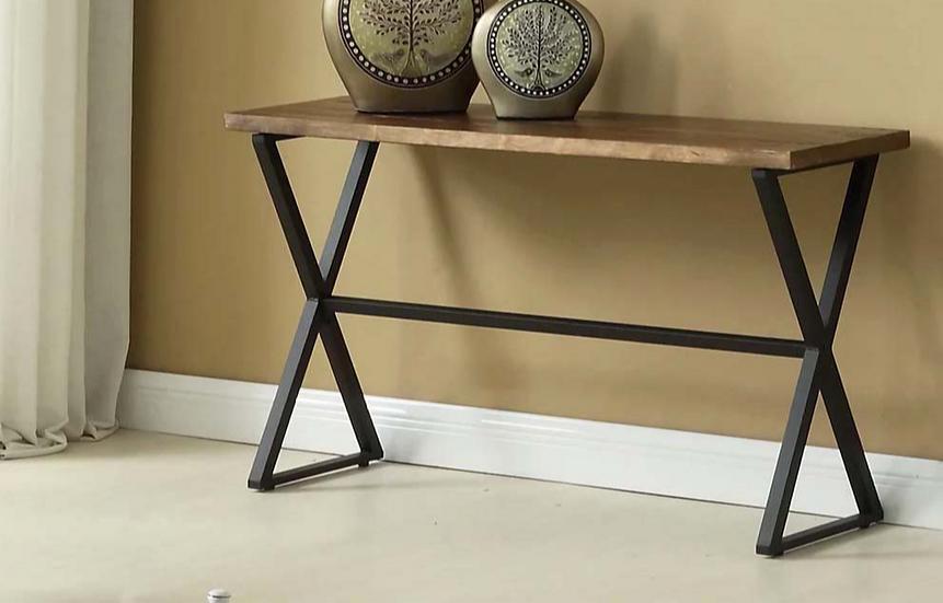 Wooden & Metal Sofa Table