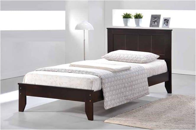 Wooden Platform Bed ~ Espresso