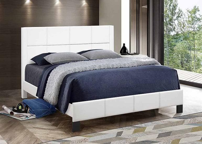White | Upholstered Bed Frame
