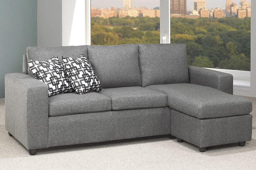 Fabric Sectional Sofa ~ Grey