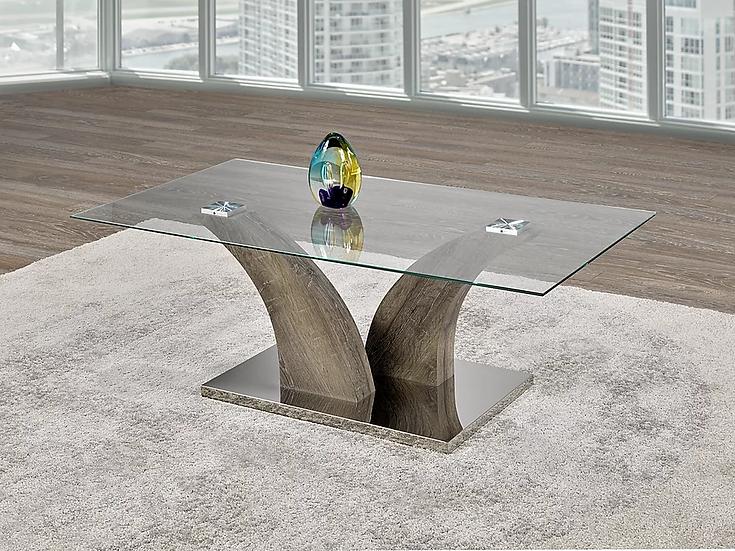 Coffee Table Glass & Metal