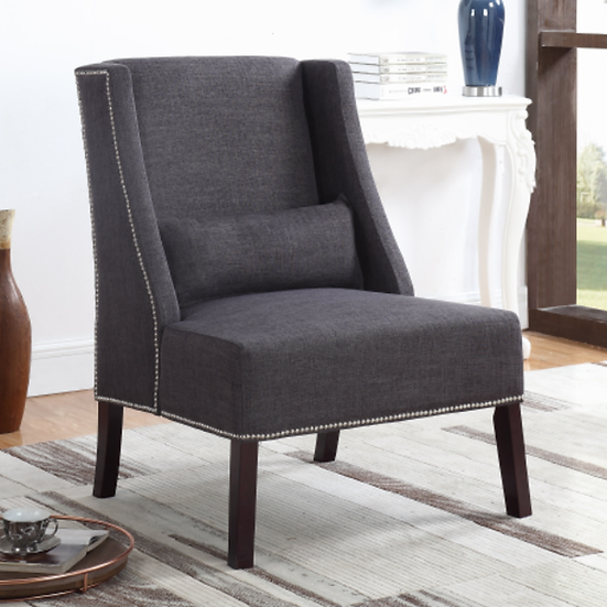 Fabric Accent Chair ~ Grey