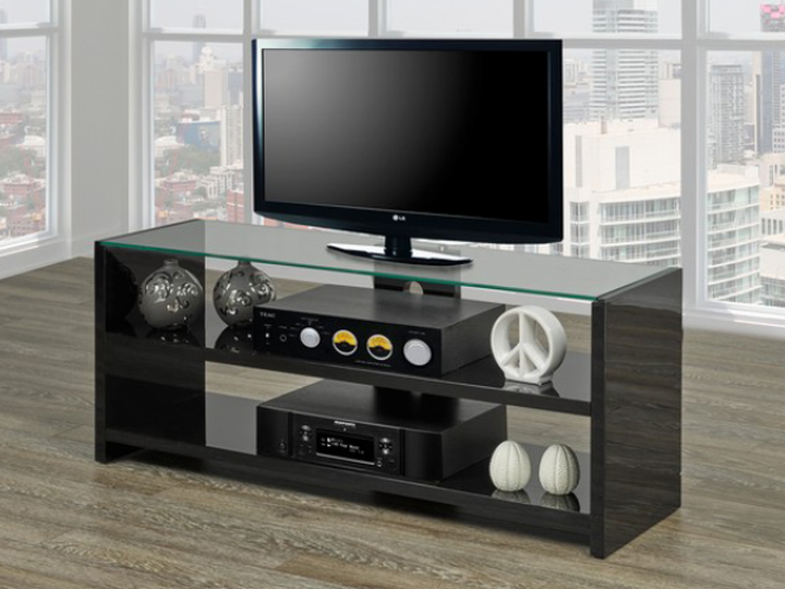 High Gloss Wooden TV Stand ~ Black or White