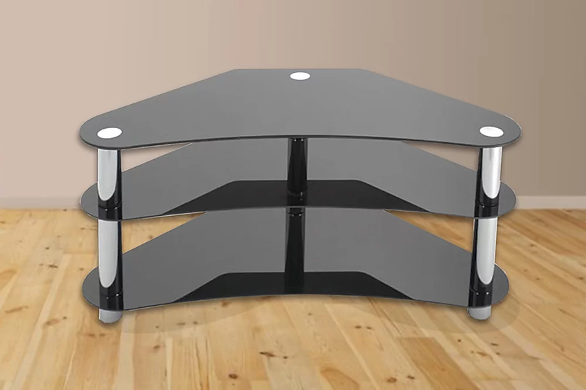 Glass TV Stand ~ Black
