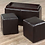 Thumbnail: PU Leather Storage Bench with 2 cubes ~ Espresso