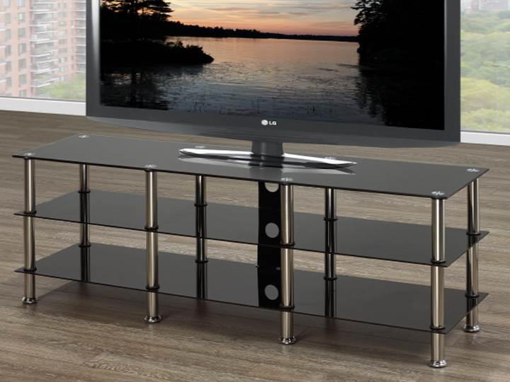 Glass TV Stand ~ Black