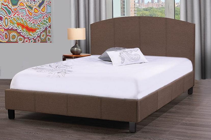 Fabric Upholstered Platform Bed ~ Beige
