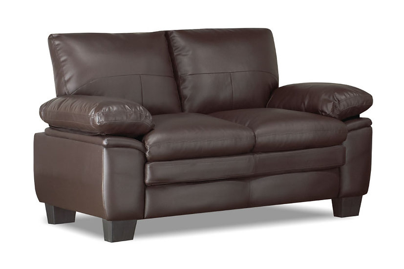 Bonded Leather Loveseat ~ Brown