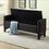 Thumbnail: Velvet Fabric Storage Bench ~  Charcoal
